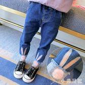 2018秋裝新款兒童韓版洋氣鉛筆褲女童小腳牛仔長褲 mt6674『小美日記』