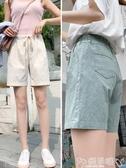雙11棉麻短褲棉麻短褲女夏季2020新款韓版高腰寬鬆闊腿褲薄款顯瘦百搭休閒褲