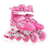 直排輪 男童溜冰鞋可調全套裝兒童滑冰鞋直排輪學生寒冰鞋發光3/6/7/10歲【情人節禮物限時八折】