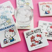 【三麗鷗授權】 Hello Kitty 珪藻土杯墊 (一組2入) 凱蒂貓 衛浴 踏墊 地墊 浴室 廁所 生日
