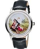 Ogival 愛其華 文藝復興彩繪機械腕錶-40mm 1929-24.9AGS皮
