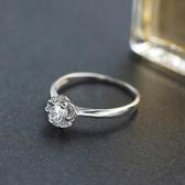 925純銀戒指 鑲鑽-優雅時尚生日情人節禮物女配件73an3【巴黎精品】