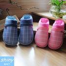 【X008】shiny藍格子-溫暖時尚....