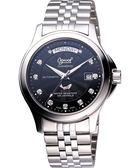 Ogival 愛其華 紳士真鑽機械錶-黑/銀 3353AJMS黑面