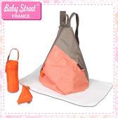 法國品牌雙色實用後揹包/媽媽包 baby street E-BS03-F