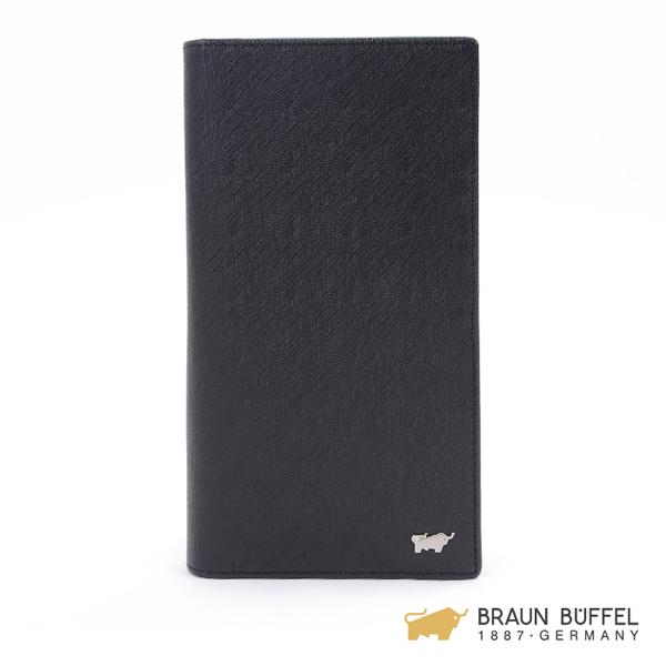 【BRAUN BUFFEL】HOMME-M系列17卡長夾 -黯黑 BF306-301-BK
