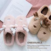 2018新款韓版卡通可愛棉拖鞋女冬半包跟毛拖鞋居家情侶拖鞋月子鞋