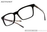 ACTIVIST 光學眼鏡 FAIRWEATHER C01 (黑) 日本手工簡約方框款 # 金橘眼鏡
