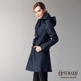 【ST.MALO】精品專櫃經典款雙排機能風衣-1724WC-月蝕藍