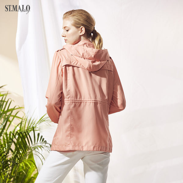 【ST.MALO】綠森林頂級防護防曬UPF50+外套-1851WJ-天竺橘