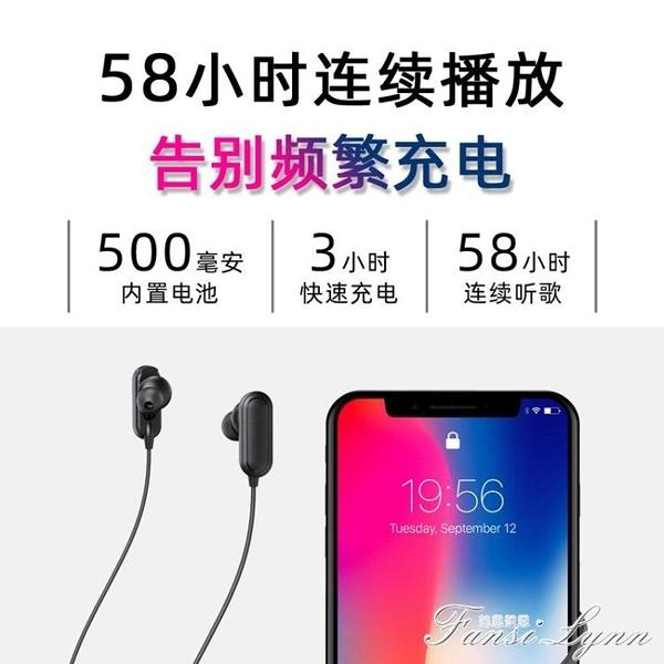 華夏九州大電量藍芽耳機掛脖式超長續航待機無線運動雙耳跑步頸掛 范思蓮恩