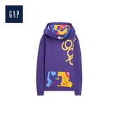 Gap男裝Jolin設計款男女同款長袖套頭連帽休閒上衣534747-紫色