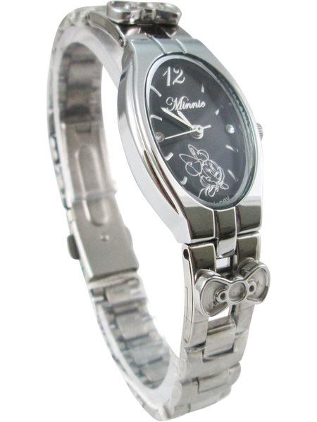 【卡漫城】 六折特價 米妮 鐵錶 黑底 ㊣版 米老鼠 迪士尼 手錶 不鏽鋼錶 Minnie 女錶 卡通錶 鋼錶