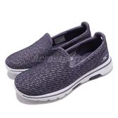 Skechers 休閒鞋 Go Walk 5-Miracle 紫 白 健走鞋 懶人鞋 女鞋 運動鞋【PUMP306】 15906PUR
