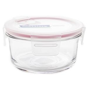 Glasslock 強化玻璃可微波氣孔上蓋保鮮盒 圓形 400ml