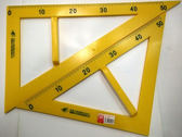 尺子 教學三角尺 ABS塑料套裝三角板 圓規量角器 老師專用套尺 三角板 麻吉部落