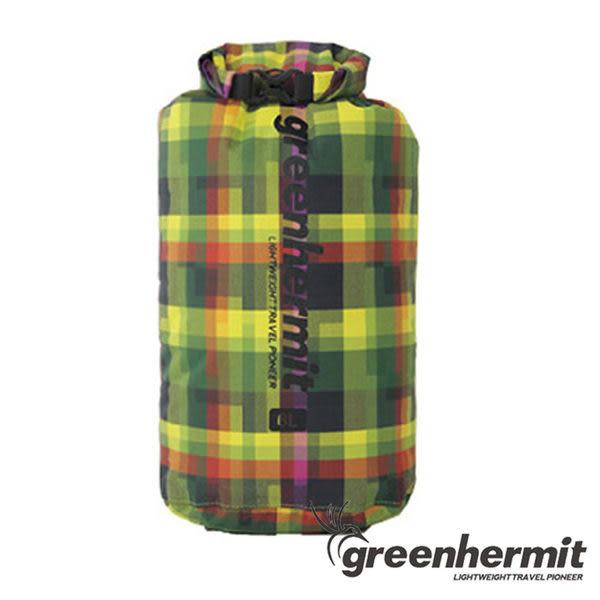GREEN HERMIT PLAID DRY SACK 格紋耐磨防水袋 12L #OD1512