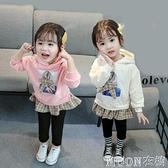 女童洋裝 裝新款女童洋裝衛衣裙0-1-3-4-5-6歲寶寶加厚裙子 快速出貨