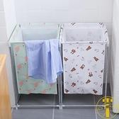北歐家用棉麻臟衣服收納筐可折疊支架防水儲物箱【雲木雜貨】