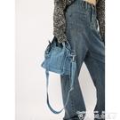 牛仔包包賽小懶 牛仔包女夏高級ins設計感小眾布包包學生百搭斜背側背挎包 衣間迷你屋