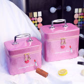 韓國多層化妝包化妝盒便攜旅行大容量化妝品收納手提化妝箱包【快速出貨限時八折】