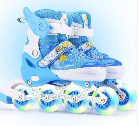 直排輪 溜冰鞋兒童全套裝男女旱冰鞋輪滑鞋直排輪3-4-5-6-8-10-12歲初學【快速出貨八折優惠】