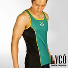 LYCO男背心‧Y綠吸排運動背心