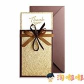 感謝卡定制新年祝福商務金色感恩送客戶精致慰問節日賀卡【淘嘟嘟】