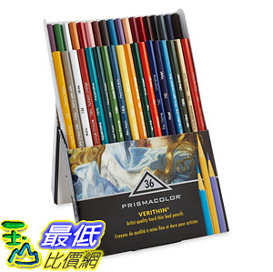 [104美國直購] Prismacolor 2428 Verithin Colored Pencils, Set of 36 Assorted Colors 色鉛筆