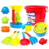 全館83折兒童沙灘玩具車套裝桶大號男女孩挖沙鏟子沙漏寶寶玩沙決明子工具