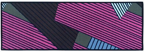 范登伯格-蒙漾防滑圈毛編織走道墊-現代幾合-44x130cm