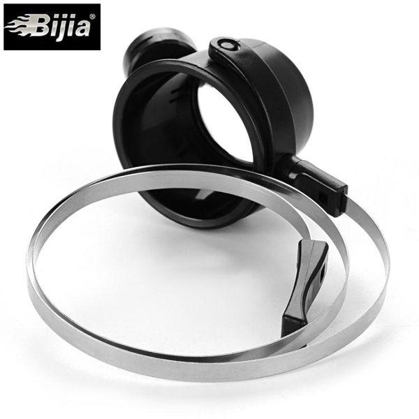 放大鏡 BIJIA15倍眼罩式帶燈修表放大鏡帶圈頭戴放大鏡修表電子器件雕刻【年中慶八五折鉅惠】