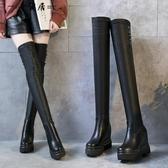 內增高長筒靴女過膝靴2018新款秋冬小辣椒瘦瘦靴網紅靴子女高筒