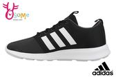 adidas男慢跑鞋 基本款 CF SWIFT RACER 輕量透氣運動鞋O9398#黑白◆OSOME奧森童鞋/小朋友