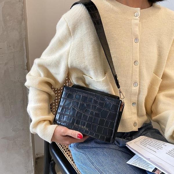 2021新品促銷 ins港風復古小包包女流行新款時尚百搭手提單肩斜挎小方包