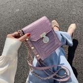 手機包 小包包女包夏天潮時尚百搭側背斜背包網紅流行鏈條手機包 芊墨左岸