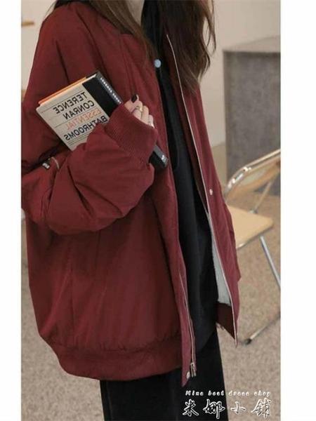 外套女2020新款秋冬韓版寬鬆bf棒球棉服ins潮加絨飛行員夾克