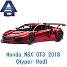 現貨 AUTOart 1/18模型車 HONDA 本田 NSX GT3 2018 Hyper Red 紅 81895