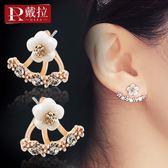 戴拉925銀針氣質花網紅耳釘耳環2019新款潮時尚夏天ins耳夾耳飾女