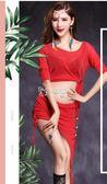 肚皮舞服裝 霓裳肚皮舞服裝新款春夏網紗練功服套裝成人大碼錶演出服短裙 卡菲婭