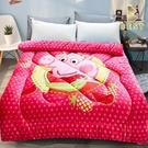 【Best寢飾】雙面激厚法蘭絨暖暖被 水果佩佩豬 台灣製 毛毯 毯被 毯子 被子 棉被