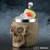 創意酒吧雞尾酒杯 樹脂不銹鋼酒杯骷髏頭杯        瑪奇哈朵