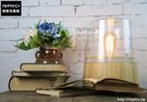 INPHIC- 復古實木質底座個性書房臥室創意現代簡約裝飾仿古小檯燈_S197C