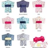 夏季寶寶日系造型和服連身衣爬服-附腰封【聚可愛】