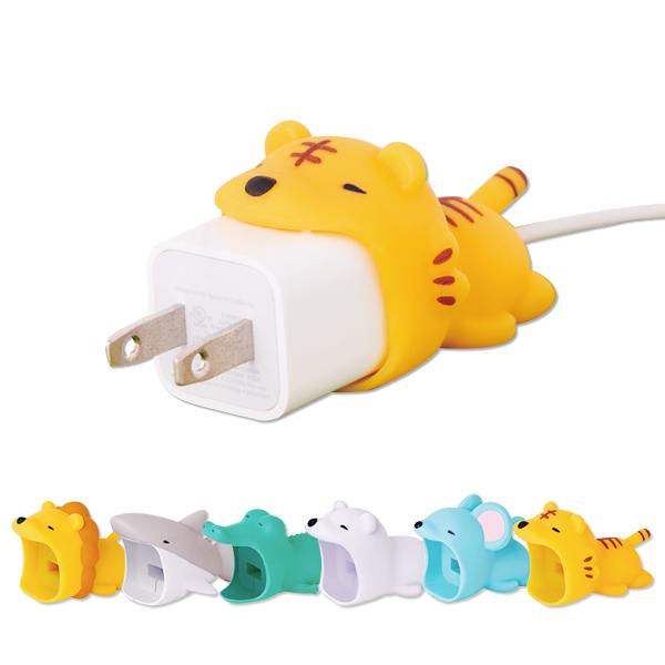 充電保護套 充電線保護 充電頭 豆腐頭 咬咬動物 iPhone充電頭 豆腐頭 保護套 USB線套 造型 6款