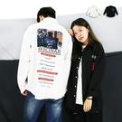 襯衫-韓版潮流照片長襯-圖片造型情侶款 《04899784》共2色『RFD』
