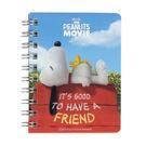 《sun-star》SNOOPY-史努比 The Peanuts Movie系列迷你線圈筆記本(悠閒屋頂)★funbox生活用品★_OP47807