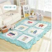 韓式加厚毛絨家用地毯臥室爬行墊榻榻米-200CM×230CM溫暖の家綠色