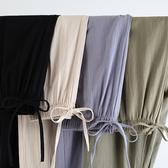 棉麻褲子女大碼哈倫褲女夏季薄款胖mm高腰韓版寬鬆亞麻女褲蘿蔔褲