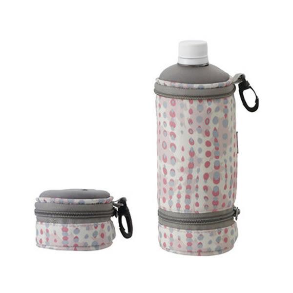 [LOGOS] 伸縮水壺保冷袋 500ml 粉紅 (LG81670292)